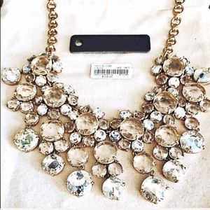 "JCREW ""ICY"" crystal statement necklace EUC"